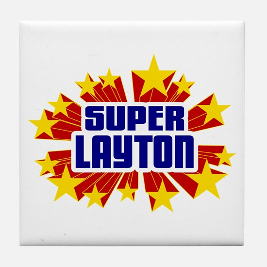 Layton the Super Hero Tile Coaster