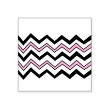 Black and Pink Chevron Sticker