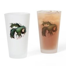 zombiefied betta fish Drinking Glass