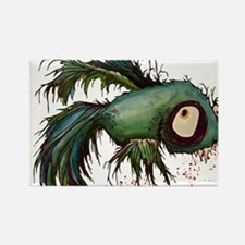 zombiefied betta fish Rectangle Magnet