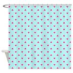 Pink Heart Pattern Shower Curtain