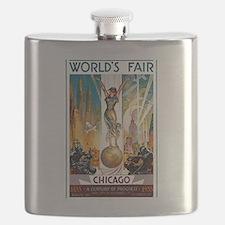 Vintage Chicago Worlds Fair B Flask
