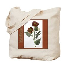 Rust Colored Sunflower Tote Bag