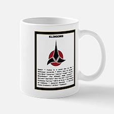 Trek in a Nutshell: Klingons Mug