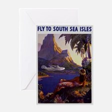 Vintage South Sea Isles Travel Greeting Card