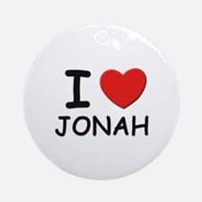I love Jonah Ornament (Round)
