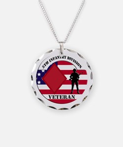 5th Infantry Division Veteran Necklace