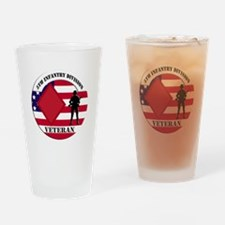 5th Infantry Division Veteran Drinking Glass