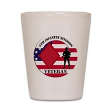 5th Infantry Division Veteran Shot Glass