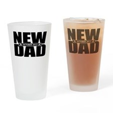 October 2013 New Dad Drinking Glass