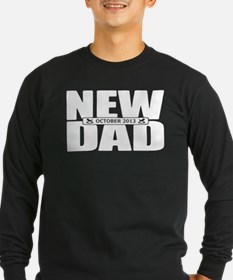 October 2013 New Dad Long Sleeve T-Shirt