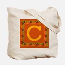 Autumn Colors and Fall Leaves Initial C Tote Bag