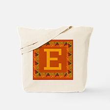 Autumn Colors and Fall Leaves Initial E Tote Bag