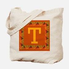 Autumn Colors and Fall Leaves Initial T Tote Bag