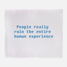 The Human Experience Throw Blanket