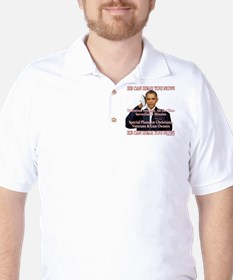 He Can Hear You Now Golf Shirt