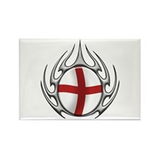 St Georges Cross: Tribal Arachnid Rectangle Magnet