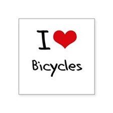 I Love Bicycles Sticker