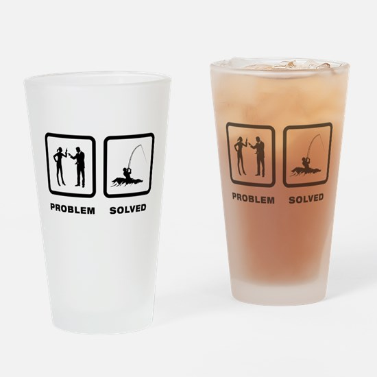 Surf Fishing Drinking Glass
