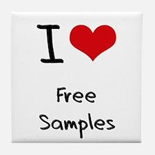I Love Free Samples Tile Coaster