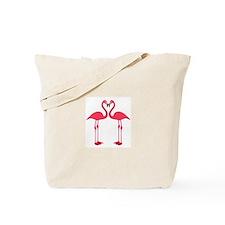 Pink Love Flamingos Tote Bag