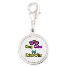 Crown Sunglasses Keep Calm And Drink Wine Silver R