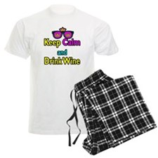 Crown Sunglasses Keep Calm And Drink Wine Pajamas