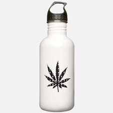 Skull Marijuana Leaf Sports Water Bottle