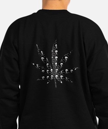 Skull Marijuana Leaf Sweatshirt (dark)