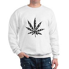 Skull Marijuana Leaf Sweatshirt