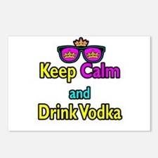 Crown Sunglasses Keep Calm And Drink Vodka Postcar