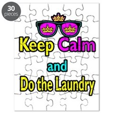 Crown Sunglasses Keep Calm And Do The Laundry Puzz