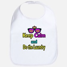 Crown Sunglasses Keep Calm And Do The Laundry Bib