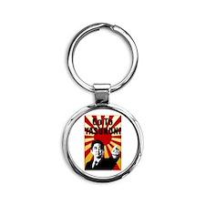 Abe Yasukuni Round Keychain