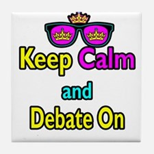 Crown Sunglasses Keep Calm And Debate On Tile Coas