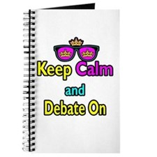 Crown Sunglasses Keep Calm And Debate On Journal