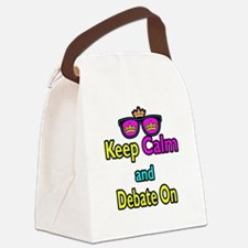 Crown Sunglasses Keep Calm And Debate On Canvas Lu