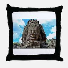 Smiling Buddha Throw Pillow