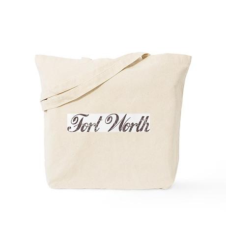 Vintage Fort Worth Tote Bag