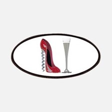Red Sparkle Corkscrew Stiletto and Champagne Flute