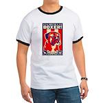Obey the BOXER! USA Patriotism Ringer T