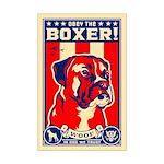Obey the BOXER! USA Propaganda Mini Poster