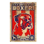 BOXER! Dog USA Retro Postcards (8 pack)