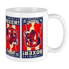 Obey the Boxer! Propaganda USA Coffee Small Mug