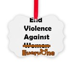 End Violence Against Everyone Ornament
