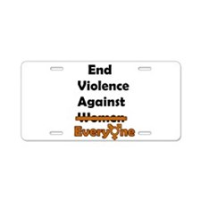End Violence Against Everyone Aluminum License Pla