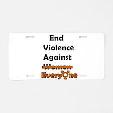 End Violence Against Everyone Aluminum License Pla
