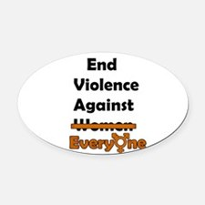 End Violence Against Everyone Oval Car Magnet