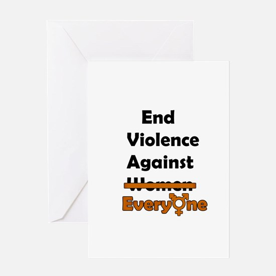End Violence Against Everyone Greeting Card