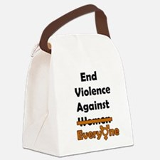 End Violence Against Everyone Canvas Lunch Bag